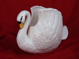 Vintage Porcelain Ceramic Swan Planter Rosenthal-Netter Inc - $10.85