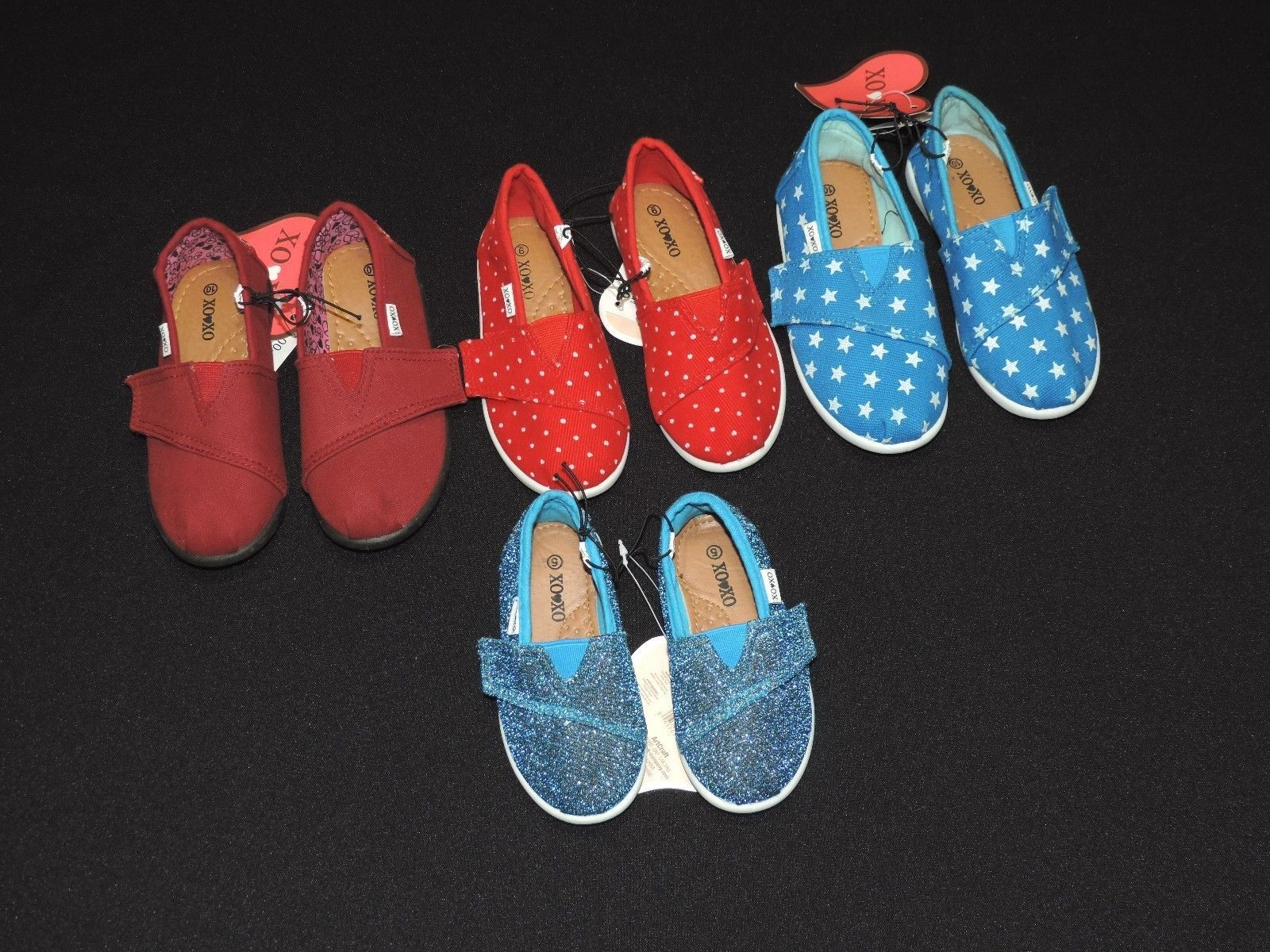 chatties xoxo toddler canvas shoes sizes 5 9 10 11