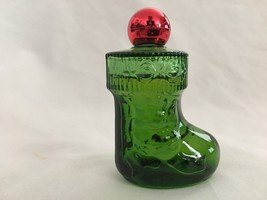 AVON Topaz 1 Oz  Cologne Splash Green Boot Figu... - $9.41
