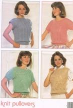 Vintage Leisure Arts Leaflet 357 Knit Pullovers - $5.99
