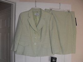 Le Suit New Womens Tropical Blooms Green Textured 2PC Skirt Suit   12 - $52.46