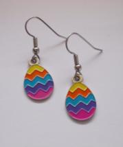 Easter Egg Dangle Earrings New Handmade - $4.20