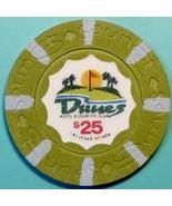 $25 Casino Chip, Dunes, Las Vegas, NV. 1989. E85. - $17.50