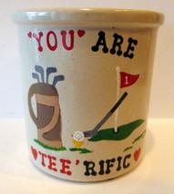 Roseville Ransbottom Pottery You are TEERIFIC 1 quart high jar Golf Gift - $16.34