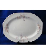 """W S George White Lido Serving Platter 11.5"""" Pink Gray - $12.95"""