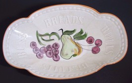 Vintage Bread Bowl Serving Dish Rolls Buns California Pottery Los Angeles - $34.64