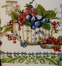 BERRY FRUIT KITCHEN SET 7pc Towels Potholders Oven Mitt Cloths Berries Green NEW image 3