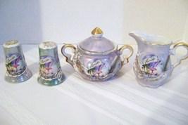 Dragonware Cream, Sugar & Salt Pepper Florida Souvenir  Set - $20.00
