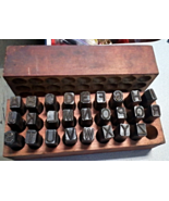 Steel Stamps in Wooden Box 26 Letters All Capitals - $59.00