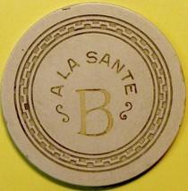 5¢ Casino Chip. A La Sante, Los Banos. CA. 1950. E87. - $14.50