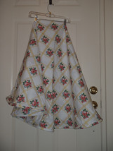 Liz Claiborne Floral Yellow Pink Roses Tablecloth Shabby Round Table Topper - €29,30 EUR