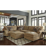 CAIN - Large Modern Brown Chenille Living Room ... - $2,219.87