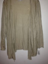 Charter club sweater draped open front linen sz M - $25.73