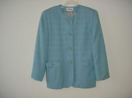 31900232897 Worthington Blazer Jacket Suit Light Blue Ladies Womens Size 12 -  14.80