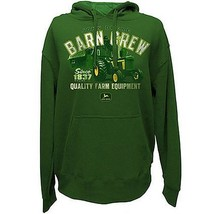 John Deere Tractor Barn Crew Green Hooded Hoodie Sweatshirt Size X Large... - $60.99