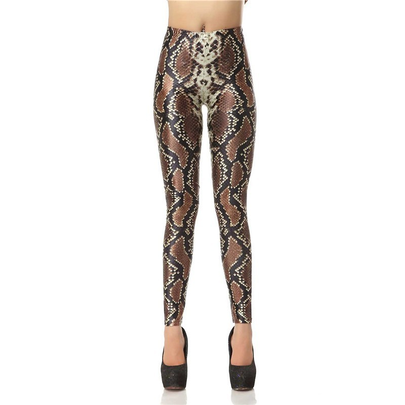 Snake Skin Women's Leggings Yoga Workout Capri Pants
