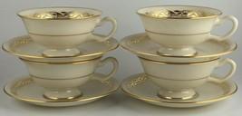 Lenox MAYFAIR P353 ( 4 / set ) cups & saucers - $30.00
