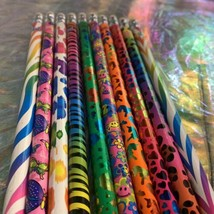 90s Vintage Lisa Frank UNSHARPENED Pencils Happy Face Butterflies Kawaii