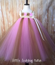 Pink & Gold Tutu Dress, Pink Flower Girl Dress, Pink Pageant Tutu, 1st B... - $50.00+
