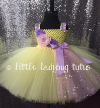 Yellow Tutu Dress, Yellow Flower Girl Dress, Pageant Tutu, 1st Birthday Tutu - $50.00+