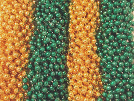 48 Green Gold Mardi Gras Beads Packers Super bowl Tailgate Football Part... - $12.94