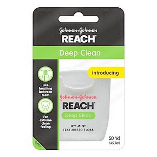 Reach Deep Clean Dental Floss Icy Mint Texturized Floss 50 yd DISCONTINUED