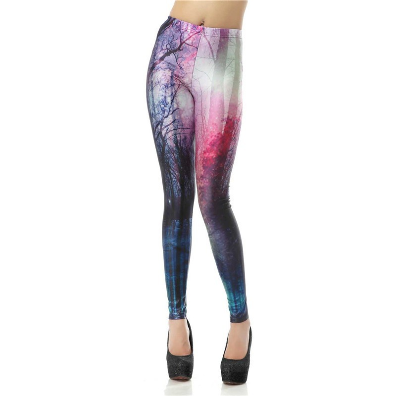 Mysterious Forest Women's Leggings Yoga Workout Capri Pants