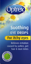 OPTREX SOOTHING EYE DROPS FOR ITCHY EYES 10ml NEW/BOXED - $3.82