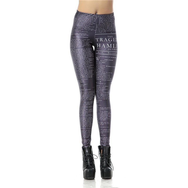 Hamlet Print Women's Leggings Yoga Workout Capri Pants