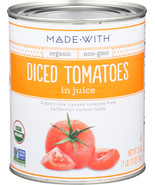 Made With Tomatoes Diced Org 28 Oz (Pack of 12) - $63.95
