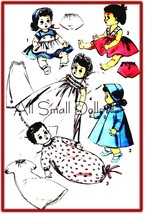 "Vintage Doll Clothing Pattern for 8""-9"" Baby Dolls  - $6.99"