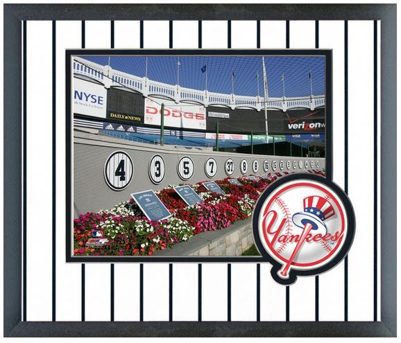 "Monument Park at Yankee Stadium 2004 - 11"" x 14"" Matted and Framed Photo"