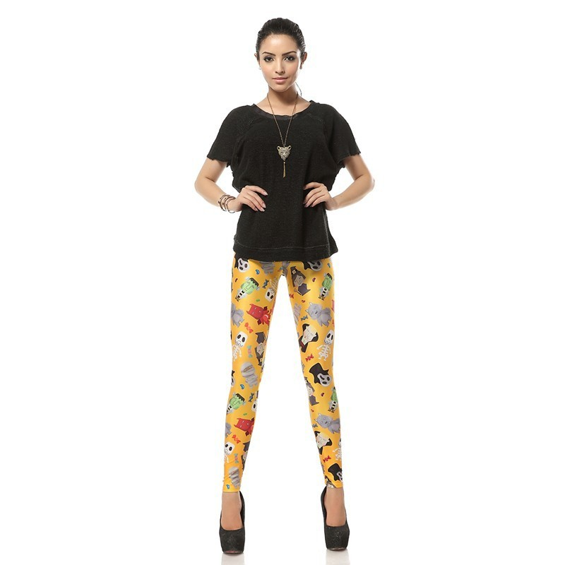 Halloween Characters Women's Leggings Yoga Workout Capri Pants