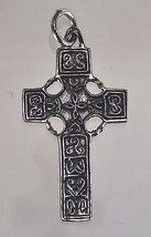 CELTIC Irish wicca Cross Sterling silver PENDANT Charm Jewelry Pagan myt... - $19.79
