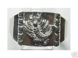 Silver Scorpion Ring Jewelry scorpio horoscope sign - $17.26