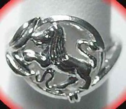 Leo Silver Zodiac Celtic Astrology sign Horoscope ring - $15.31