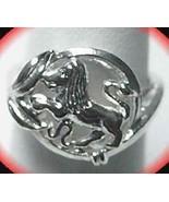 Leo Silver Zodiac Celtic Astrology sign Horoscope ring - $15.31