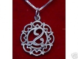 New Sterling Silver .925 Pendant charm Initial Letter Q - $19.15