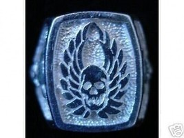 Skeleton Warrior Ring GOTHIC death Silver Skull Jewelry - $63.18