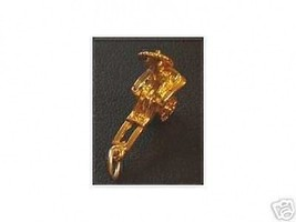 1536 Chariot Pendant  Charm Gold Plated Rickshaw - $17.26