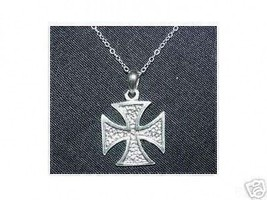 He-man Style Crest Sterling Silver 925 Charm MOTU Jewelry Maltese Figure Cross - $15.31