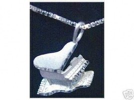Sterling Silver Grand Piano Pendant Charm Jewelry Music - $19.15