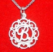 1266 Charm Initial Letter B Elegant Silver Pendant - $17.26
