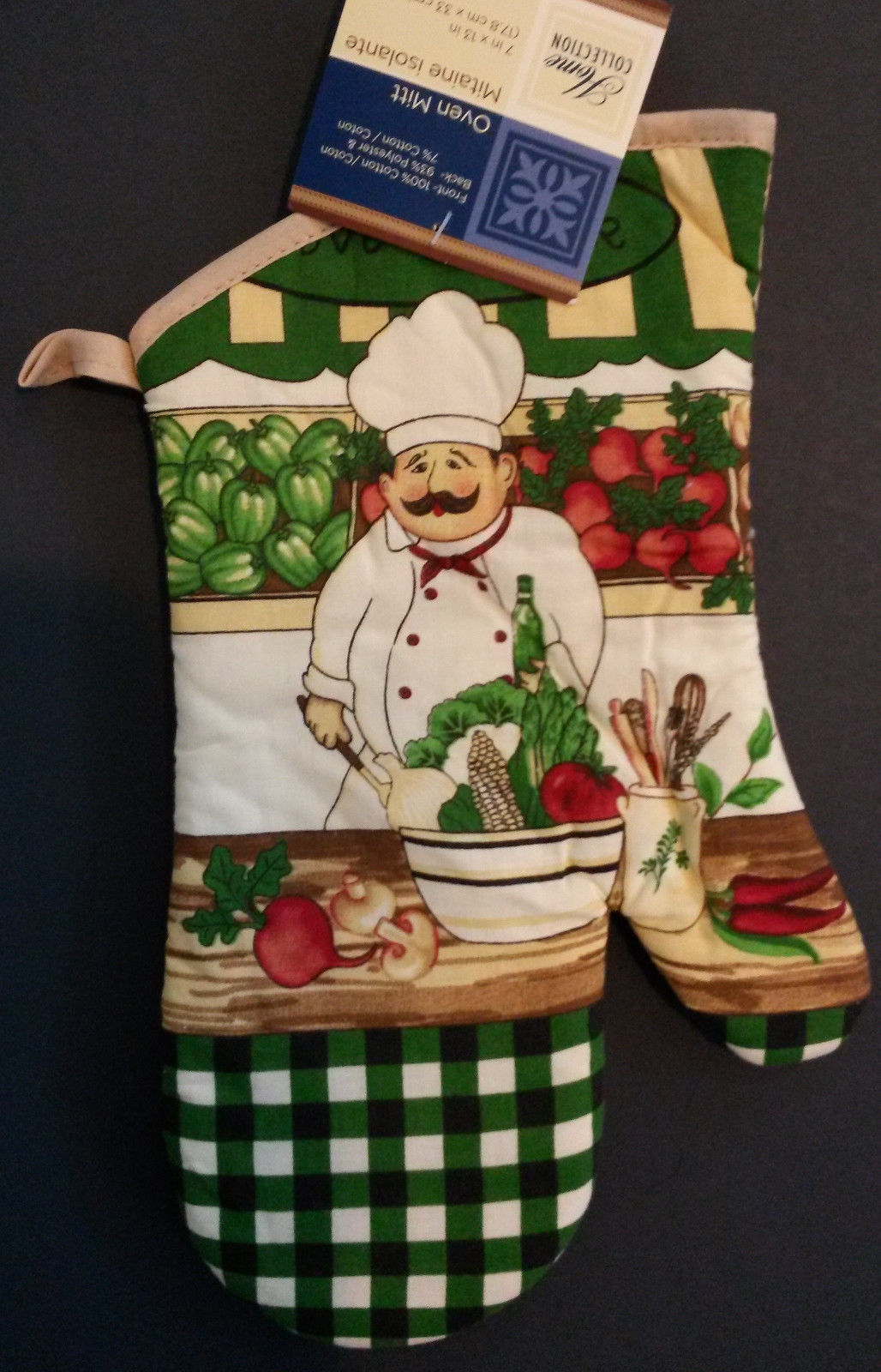 Fat Chef Kitchen Set 12-pc Placemats Towels Mitt Potholders Love to Cook NEW
