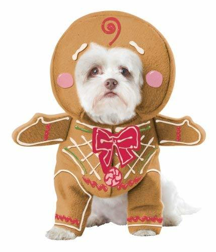 California Costume Collections Gingerbread Pup Dog Costume, Medium image 1