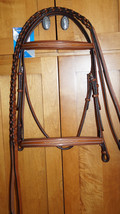 Bobby's Platinum WB Lt Brown Square Raised Fancy Stitch Padded Bridle w/... - $199.00