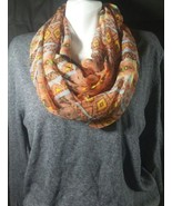 West Loop Beautifully Patterned Infinity Scarf New - $6.79