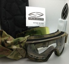 New SMITH OPTICS OUTSIDE THE WIRE Goggles Deluxe Kit CAMO w/Clear, Grey & Yellow