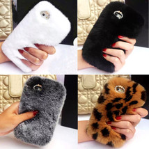 Luxury Winter Top Soft Rabbit Fur Hair Case Cover for iPhone Samsung Moblie TM1 - $19.98