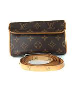 Auth LOUIS VUITTON Pochette Florentine Monogram Pouch Waist Bag M51855 LP4398L